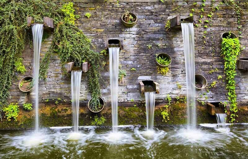 uentes de agua jardin terraza