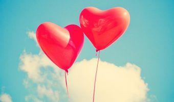 corazones globos