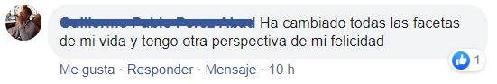 Testimonio Guillermo Perez Facebook