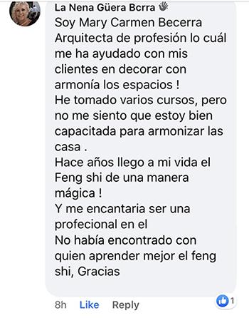 Testimonio M Carmen Becerra Facebook