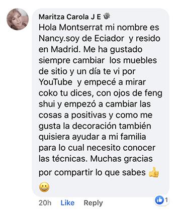 Testimonio Maritza Carola Facebook